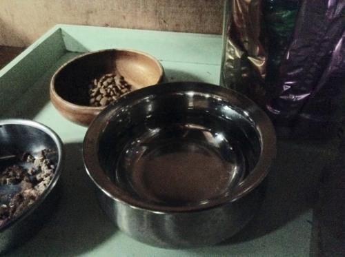 猫用インドのステンレス食器from found muji