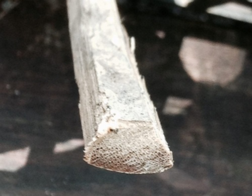 金継ぎ用の竹のヘラ作り