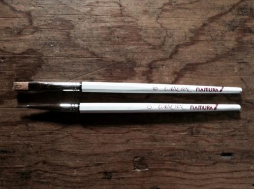 金継で使った筆