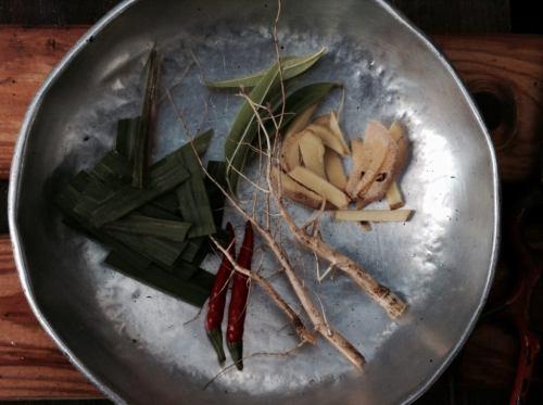 庭のトムヤム・材料