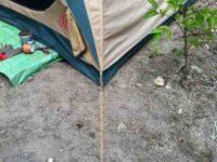 [夕涼み][DIY][2/2]雨対策には常設テント