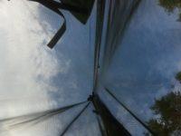 [夕涼み][DIY][1/2]夏の夜は蚊帳を吊るした野外ベッドが心地よい