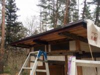 [セルフビルド]風呂&トイレ小屋を自作しよう!⑮|小屋制作編Ⅵ|壁の下地作りと自作の水切り