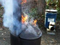 [燃焼テスト]家庭用焼却炉を使ってみたら良く燃えすぎた