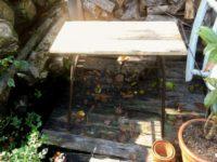 [DIY]細々としたこと|アイアンのテーブル(小)/梁のベンチに塗装/バーナーのツマミ/シアバターの詰め替え/おまけ:プレゼント企画