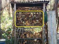 [薪ストーブ]薪の消費量クイズ!|薪棚修理とクサビで薪割り、薪の消費量について
