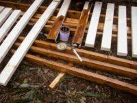 [セルフビルドの小屋暮らし][入植5日目] - 土台一段目の作成 -|タイニーハウスの作り方