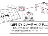 [後編]オフグリッド生活|分かり易いソーラーパネルの選び方|12Vシステムと24Vシステム|バッテリーの直列化と並列化