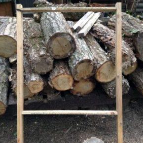 手作りギャッベの木枠