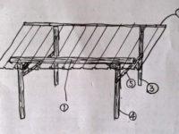 [DIY][1/2]間伐材を使った自作の差し掛け小屋|物置小屋