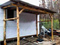 [DIY][2/2]間伐材を使った自作の差し掛け小屋|物置小屋