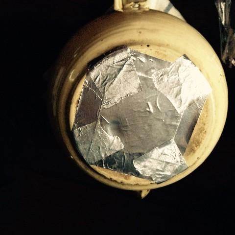琺瑯のヤカンをアルミテープで補修