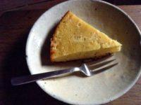 酒粕のラムレーズンとチーズケーキ
