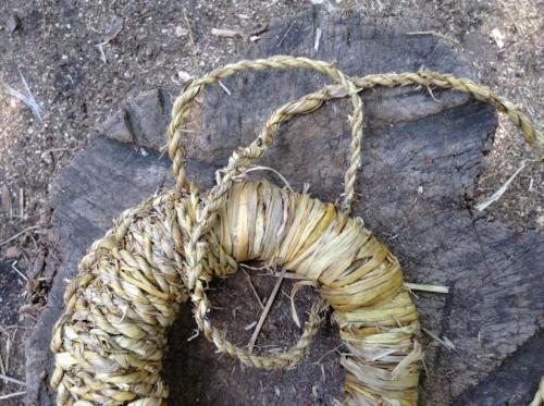 わらの鍋敷きの作り方